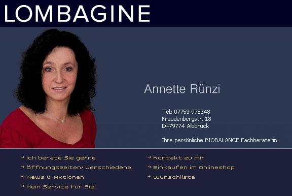 Lombagin Annette Rünzi